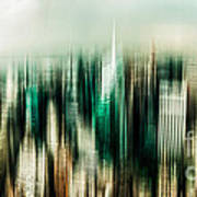Manhattan Panorama Abstract Poster