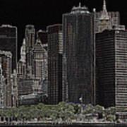 Manhattan Skyline Abstract Poster