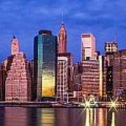 Manhattan Skyline At Sunrise Poster