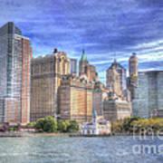 Manhattan Skyline From Hudson River Poster by Juli Scalzi