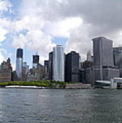 Manhattan Skyline From The Hudson River Poster