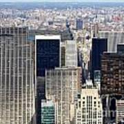 Manhattan View Uptown Poster