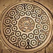 Manhole Mandala Poster