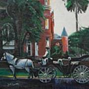 Mansion On Forsythe Savannah Georgia Poster