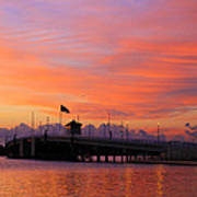 Mantoloking Bridge At Dawn Poster