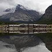 Many Glacier Reflection Poster