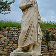 Many Sculptures Lost Their Heads In Ephesus-turkey Poster