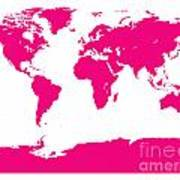 Map In Pink Poster