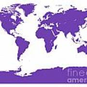 Map In Purple Poster