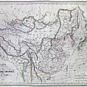 Map Of China And Japan Poster