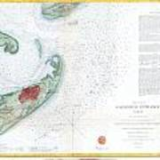 Map Of Galveston City And Harbor Texas Poster