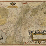 Map Of Gelderland And Cleves Poster
