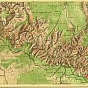 Map Of Grand Canyon National Park Poster