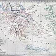 Map Of Greece Poster