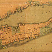 Map Of Long Island 1888 Poster