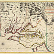 Map Of Maryland 1676 Poster
