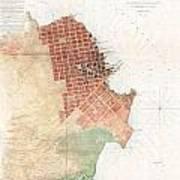 Map Of San Francisco California Poster