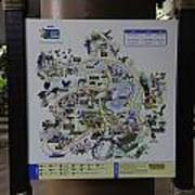 Map Of The Jurong Bird Park Along With A Tourist Poster