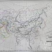 Map Of The Mongol Empire In Asia And Europe Poster