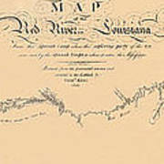 Map Of The Red River 1806 Poster