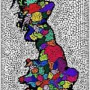 Map Of The Uk Decorative Poster