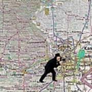Map Overland Park Kansas Poster