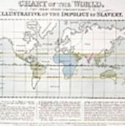 Map Sugar Trade Poster
