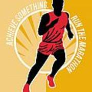 Marathon Achieve Something Poster Retro Poster