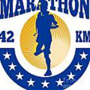 Marathon Runner Athlete Running Poster