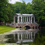 Marble Bridge In The Park Tsarskoye Selo Poster