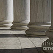 Marble Columns Of Thomas Jefferson Memorial Poster