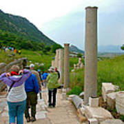 Marble Way In Ephesus-turkey Poster