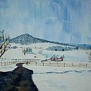 March Snow on Mole Hill - SOLD Poster