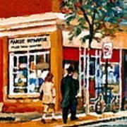 Marche Depanneur Storefront Paintings Authentic Montreal Art Prints Originals Commissions C Spandau Poster