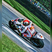 Marco Simoncelli Uphill Poster