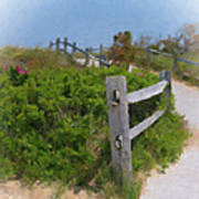 Marconi Beach Path Poster