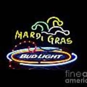 Mardi Gras And Bud Light Poster