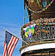 Mardi Gras Balcony Poster