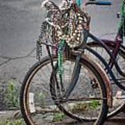 Mardi Gras Bicycle Poster by Brenda Bryant