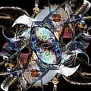 Mardi Gras Medusa Poster