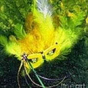Mardi Gras On Green Poster