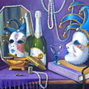 Mardi Gras Poster by Rich Kuhn