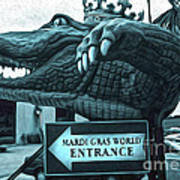 Mardi Gras World - Alligator Poster