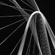 Margaret Hunt Hill Bridge Dallas Texas Poster