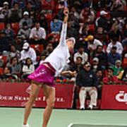 Maria Sharapova Serves In Doha Poster by Paul Cowan