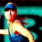 Maria Sharapova Tennis Poster by Lanjee Chee