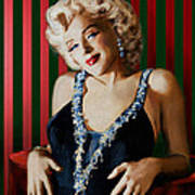 Marilyn 126 D Stripes Poster