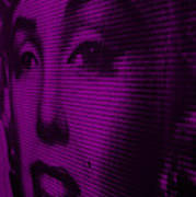Marilyn And Mona Purple Poster