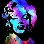 Marilyn Art Poster by Kenneth Feliciano