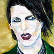 Marilyn Manson Oil Portrait Poster